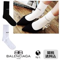 【関税送料込】*BALENCIAGA* Logo intarsia cotton socks