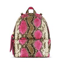 Pink Python Small City Backpack