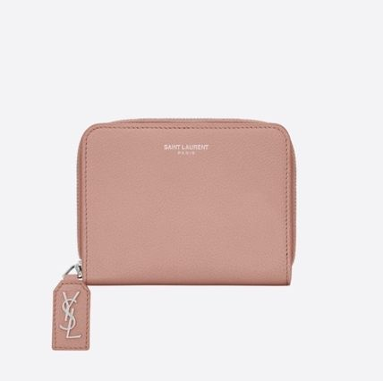 RIVE GAUCHE COMPACT ZIP AROUND WALLET IN PALE BLUSH