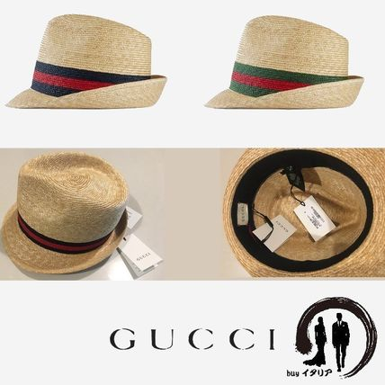 official photos 2f396 c2c0a [GUCCI] 男女兼用♪ Web ストローハット ♪ 麦わら帽子