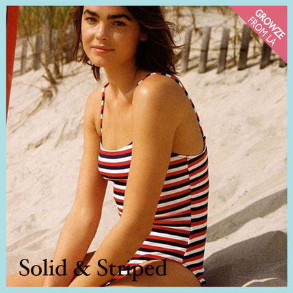SOLID & STRIPED ワンピース水着 【SOLID & STRIPED】マルチカラー ボーダー ワンピース水着