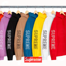 11 week SS18 Supreme Sleeve Embroidery Hooded Sweatshirt