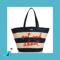 kate spade SHORE THING OUT AND ABOUT STRAW TOTE☆セール