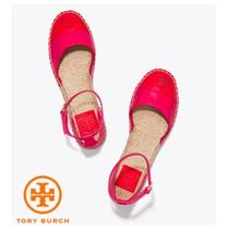 【TORY BURCH】COLOR-BLOCK LEATHER ANKLE-STRAP ESPADRILLE