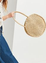 Urban Outfitters☆Large Circle Straw Bag☆丸かごバッグ ☆黒