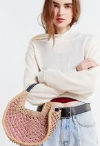 Urban Outfitters(アーバンアウトフィッターズ) かごバッグ セール☆Urban Outfitters☆Small Circle Straw Tote Shoulder☆