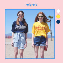 ★rolarola★ THE BEACH GIRLS OVERFIT T-SHIRT_TS-18304