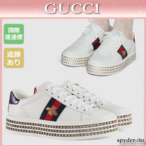 18SS★送料込【GUCCI】Ace 蜂刺しゅう レースアップスニーカー
