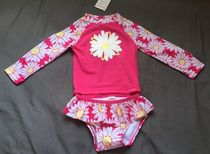 Gymboree Daisy Rash Guard & Bikini Swimsuit 2 Pc Set