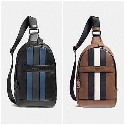 Coach(コーチ) CHARLES PACK WITH VARSITY STRIPE