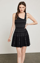 《関税・送料無料》ドレス♪ Sleeveless Dot-Striped Knit Dress