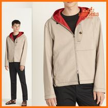HERMES☆おしゃれな一着☆Hooded jacket/Ficelle