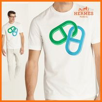 HERMES☆Maillons Chaine d'Ancre t-shirt/Laitue
