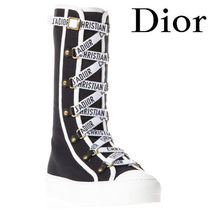 【18SS】★Dior★Dior Black Cloth Sneakers With Logo Laces