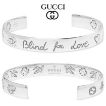 GUCCIグッチ★Blind for Loveスターリング シルバー カフ
