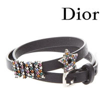 【18SS】★Dior★Dior Leather Bracelet With Rhinestones Dior