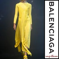 【国内発送】Balenciaga ドレス Draped lace silk-crepe midi