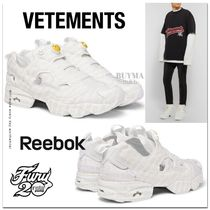 "関税送料込★VETEMENTS x REEBOK INSTAPUMP FURY""EMOJI""ベージュ"