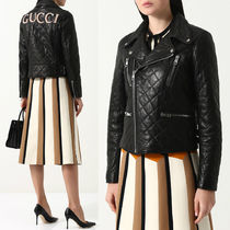 18SS WG319 QUILTED LAMB LEATHER BIKER JACKET