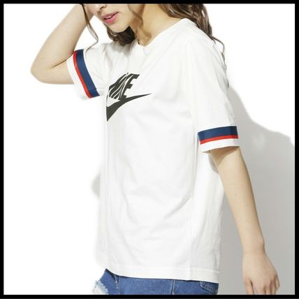 Nike Tシャツ・カットソー 国内発送・正規品★人気!NIKE ナイキ 袖ラインロゴ Tee★WHITE(2)
