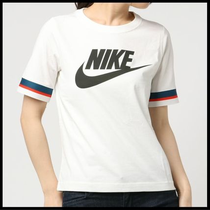 Nike Tシャツ・カットソー 国内発送・正規品★人気!NIKE ナイキ 袖ラインロゴ Tee★WHITE(4)
