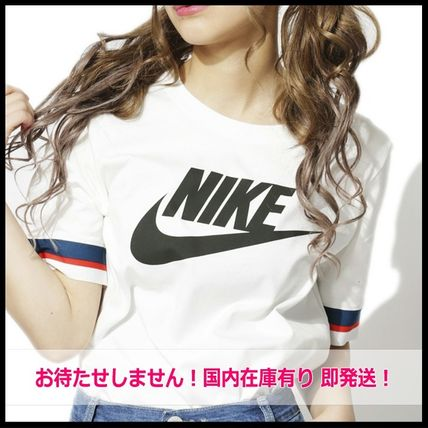 Nike Tシャツ・カットソー 国内発送・正規品★人気!NIKE ナイキ 袖ラインロゴ Tee★WHITE