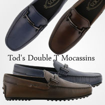 TOD'S(トッズ) ドレスシューズ・革靴・ビジネスシューズ 18SS 新作 TOD'S★Double T Gommino Loafers 2色 関税/送料込
