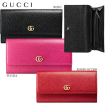 【正規品保証】GUCCI★18春夏★LEATHER CONTINENTAL WALLET