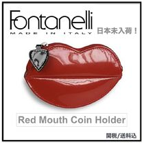 Fontanelli(フォンタネッリ) コインケース・小銭入れ 関税込☆Fontanelli Red Mouth Coin Holder コインホルダー