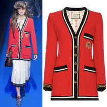 18SS WG323 LOOK19 WOOL SABLE JACKET WITH CREST APPLIQUE