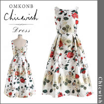 【国内発送・関税込】Chicwish★Vivid Rose Printed Prom Dress