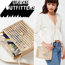 ● Urban Outfitters ●人気 Woven ストロー ショルダーバック
