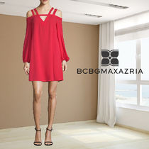 BCBG MAXAZRIA Strappy Cold-Shoulder Shift Dress ワンピース