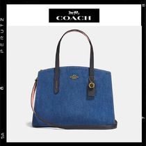 日本限定【Coach】Charlie CarryAll  2way Denim 28898