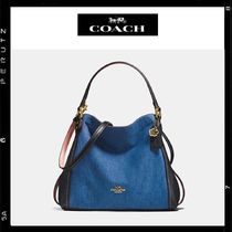 日本限定【Coach】Edie Shoulder Bag 28 Denim 29475