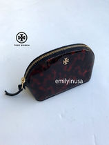 即発 TORY BURCH★Robinson Tortoise Small Makeup Bag 34357