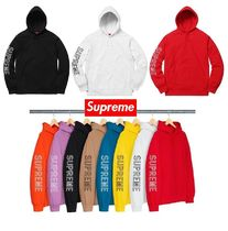 ★Supreme★Sleeve Embroidery Hooded Sweatshirt WEEK11 SS18