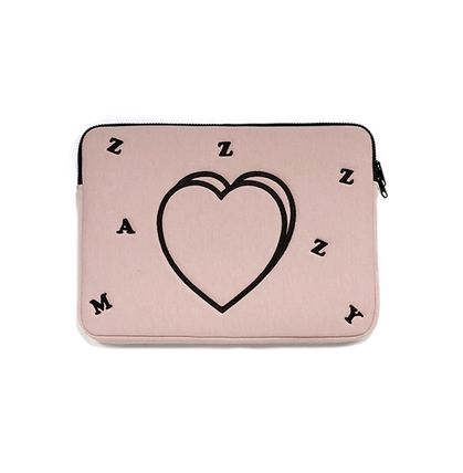 MAZZZZY スマホケース・テックアクセサリー heart laptop pouch/indi pink/blue/13インチ/2色/mazzzzy(2)