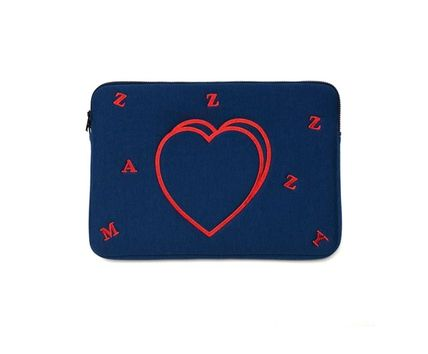 MAZZZZY スマホケース・テックアクセサリー heart laptop pouch/indi pink/blue/13インチ/2色/mazzzzy(3)