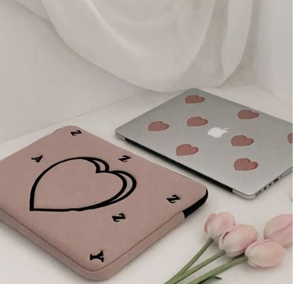 MAZZZZY スマホケース・テックアクセサリー heart laptop pouch/indi pink/blue/13インチ/2色/mazzzzy(5)