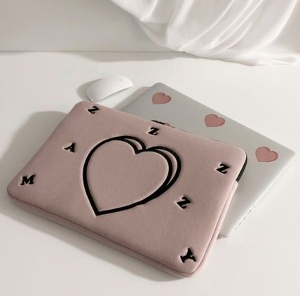 MAZZZZY スマホケース・テックアクセサリー heart laptop pouch/indi pink/blue/13インチ/2色/mazzzzy(6)