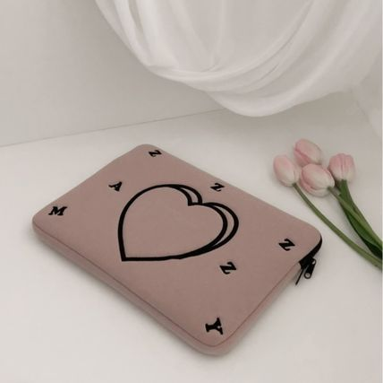 MAZZZZY スマホケース・テックアクセサリー heart laptop pouch/indi pink/blue/13インチ/2色/mazzzzy(7)