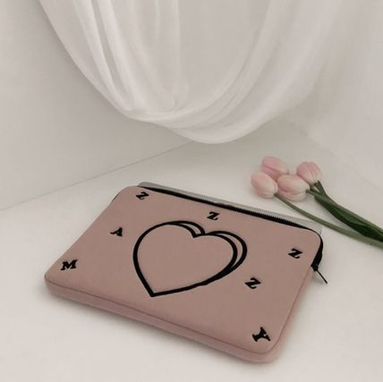 MAZZZZY スマホケース・テックアクセサリー heart laptop pouch/indi pink/blue/13インチ/2色/mazzzzy(8)