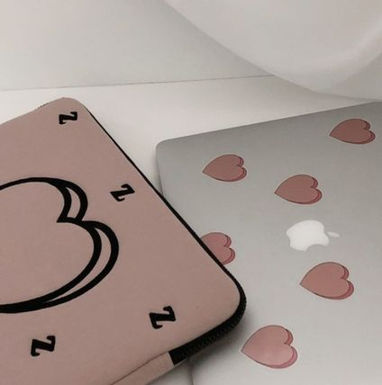 MAZZZZY スマホケース・テックアクセサリー heart laptop pouch/indi pink/blue/13インチ/2色/mazzzzy(10)