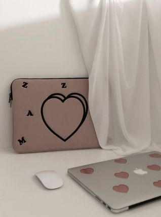 MAZZZZY スマホケース・テックアクセサリー heart laptop pouch/indi pink/blue/13インチ/2色/mazzzzy(11)