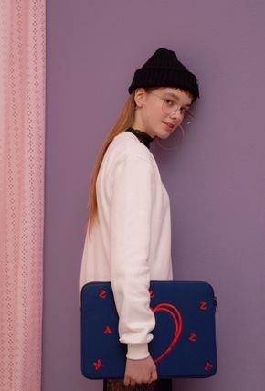MAZZZZY スマホケース・テックアクセサリー heart laptop pouch/indi pink/blue/13インチ/2色/mazzzzy(15)