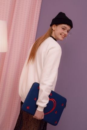 MAZZZZY スマホケース・テックアクセサリー heart laptop pouch/indi pink/blue/13インチ/2色/mazzzzy(19)