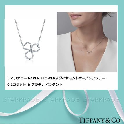 new product 6c6ee df429 [Tiffany & Co] 最新 PAPER FLOWERS 0.1ct スモールペンダント