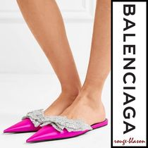 【国内発送】Balenciaga スリッパ Slash sequin satin slippers