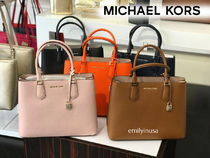 追跡有 Michael Kors☆ADELE LG SATCHEL 2WAYバッグ*A4収納OK